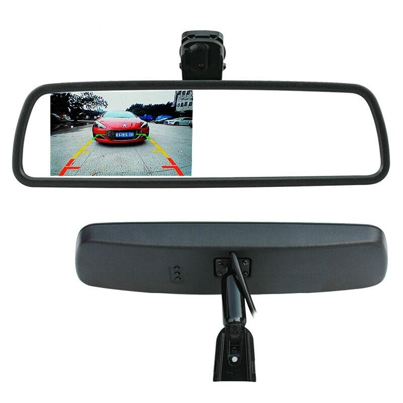 Зеркало заднего вида с монитором и креплением